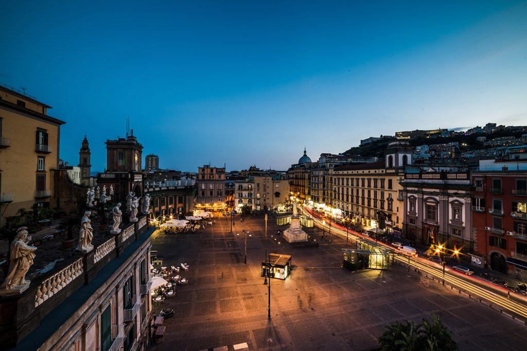 Il panorama di Piazza Dante dal Rinuccini Relais